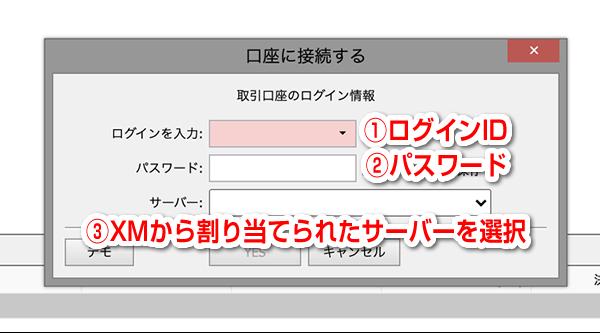 IDとパスワード入力画面
